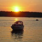 Sonnenuntergang  über Tegeler See