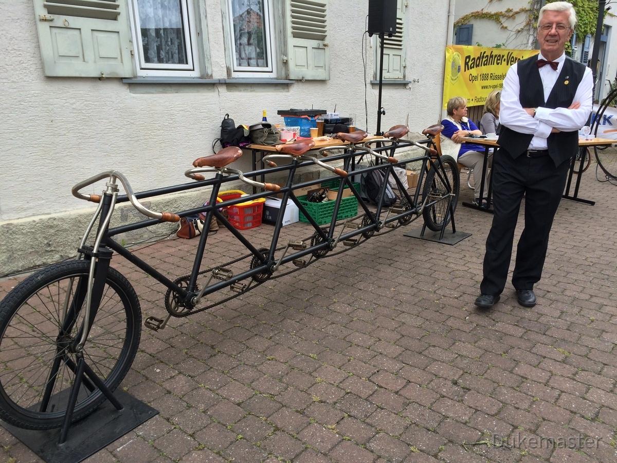 Opel-Tandem-Fahrrad Königstädten-Opel-Bicycle-Party