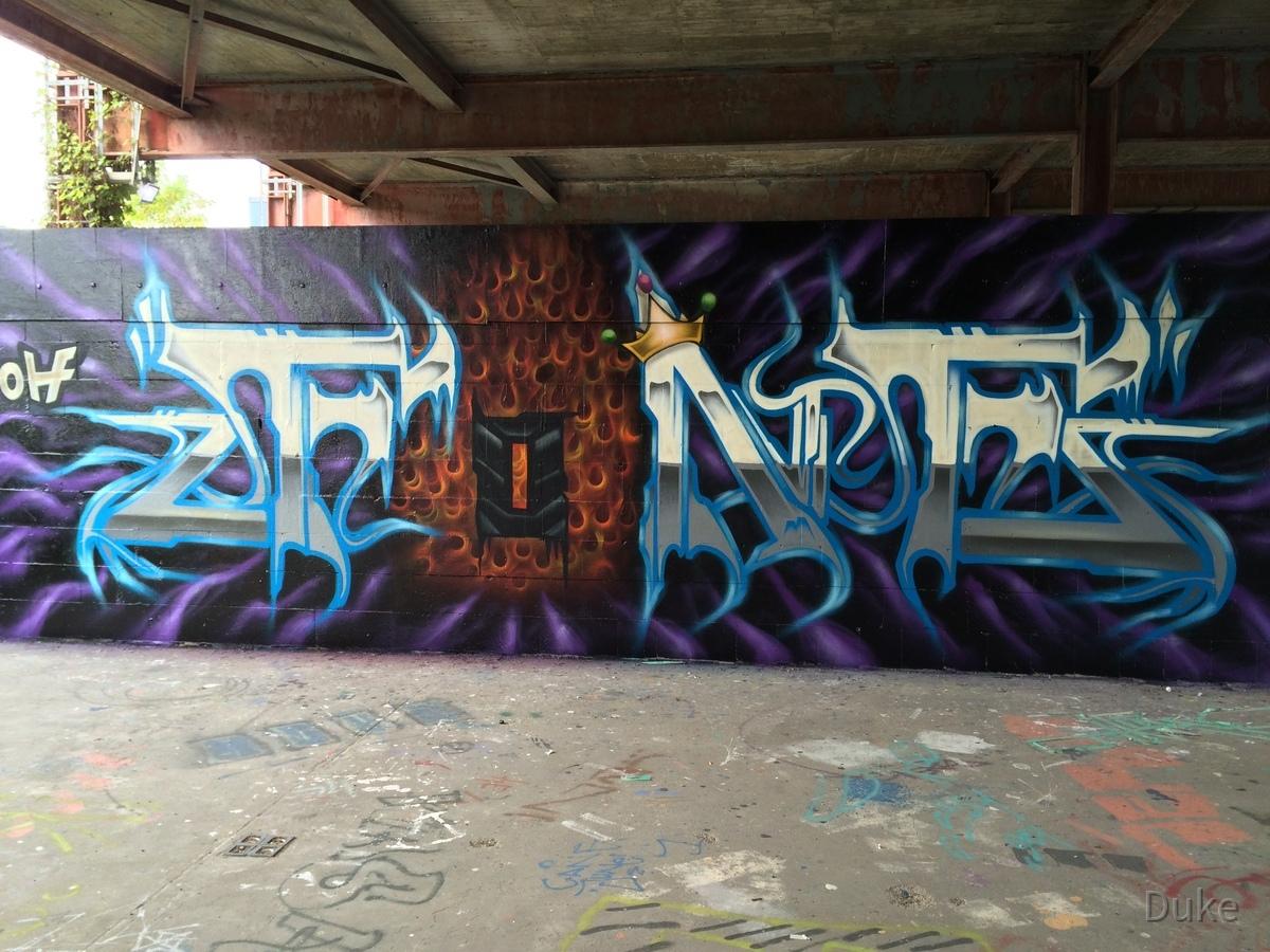 Berlin - Teufelsberg - Graffiti - Cool Letters
