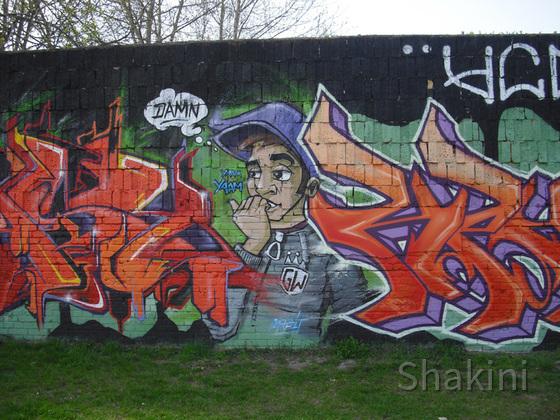 East Side Gallery - Berlin - Graffitis - Damn - Cool