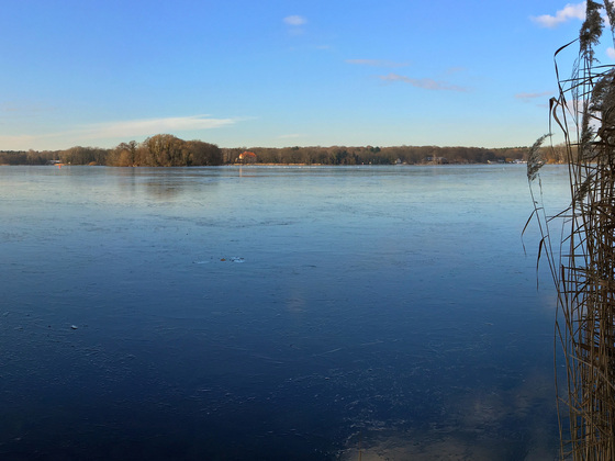 Tegeler See Winter-Panorama