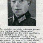 Hans Schick gefallen 1944 bei Newel-Todesanzeige-Innen