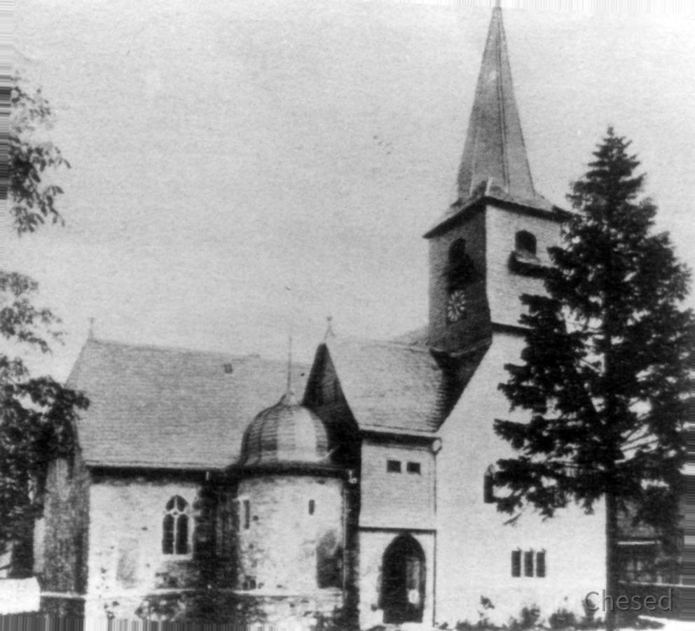 Evangelische Kirche Königstädten 1903 nach Anbau Nordseite