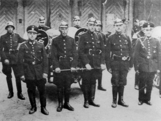 Freiwillige Feuerwehr Königstädten im Gründungsjahr 1936