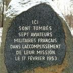 Gedenkstein Flugzeugabsturz 7 Französische Soldaten 17.02.1953 Berlin-Tegel - Forst Jungfernheide