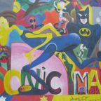 East Side Gallery - Berlin - Graffitis - Batman