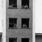 Feuerwehr Königstädten - Brandmeisterlehrgang - Kassel 1962 - Erfolgreiches Hochhaus-Abseilen