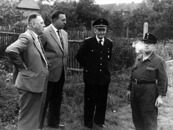 Feuerwehr Königstädten - 25. Jubiläum 1955 - Ehrengäste aus Rüsselsheim