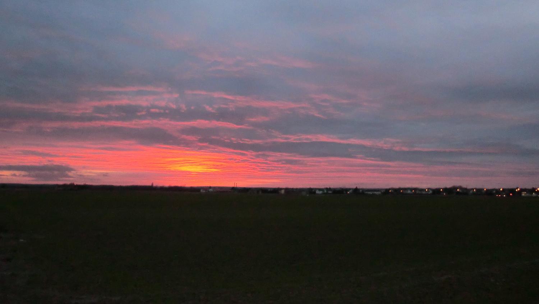 Sonnenuntergang über Rüsselsheim-Bauscheim - Bauscheim unter Feuer