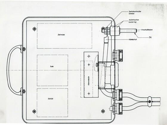Punktschweißgerät aus Rüsselsheim Adam Opel AG - Technische Zeichnung - 1