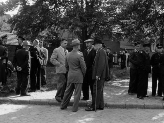 Feuerwehr Königstädten - 25-jähriges Jubiläum 1955 - Bismarckplatz