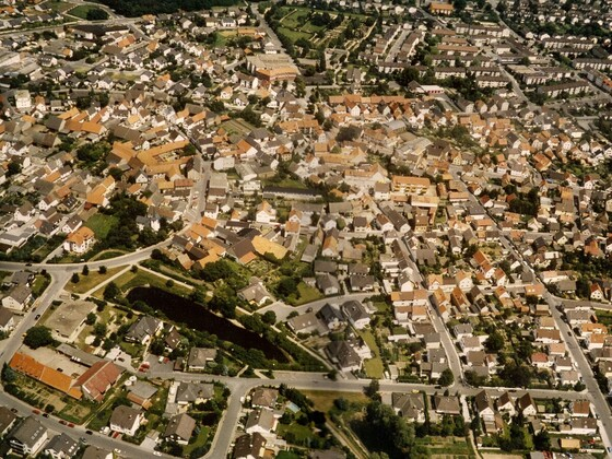 Luftbild - Rüsselsheim-Königstädten - Kernstadt