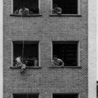 Feuerwehr Königstädten - Brandmeisterlehrgang - Kassel 1962 - Abseilen 2. Stock
