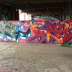 Berlin - Teufelsberg - Graffiti - Multi Color Words