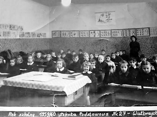 Szkoła 🏫 Wałbrzych 1959/1960 [Halinka klasa]