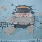 East Side Gallery - Berlin - Graffitis - Trabi - Trabant