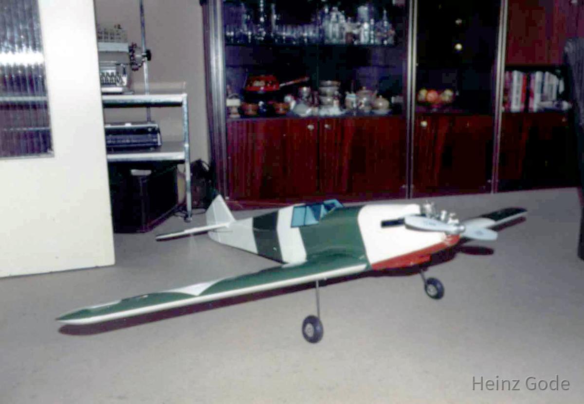 Heinz Godes Modellflugzeug Me109