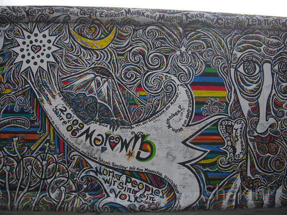 East Side Gallery - Berlin - Graffitis - Komet