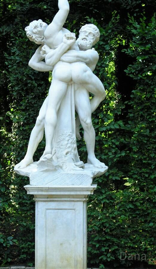 Herkules ringt mit Antaeus